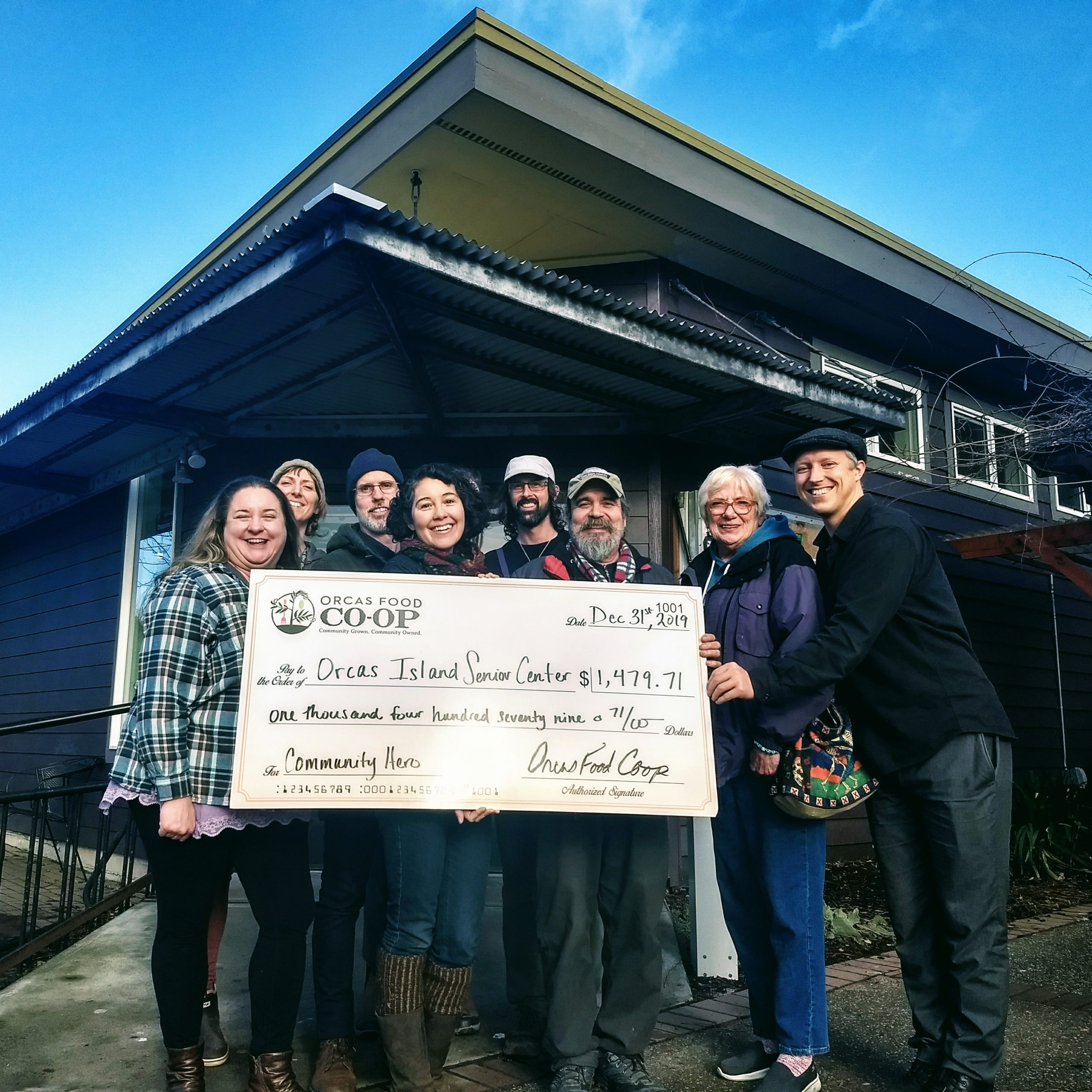 The Orcas Food Co-op's Community Hero Program Recipients