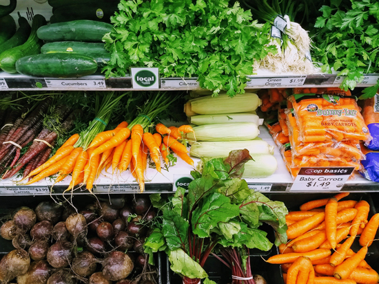 Orcas Food Co-op's  all-organic produce department proudly partners with over 20 San Juan County farms to bring you a bountiful selection that changes with the season