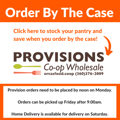 Provision orders need to be placed by noon on Monday. Orders can be picked up Friday after 9:00am. Home Delivery is available for delivery on Saturday.